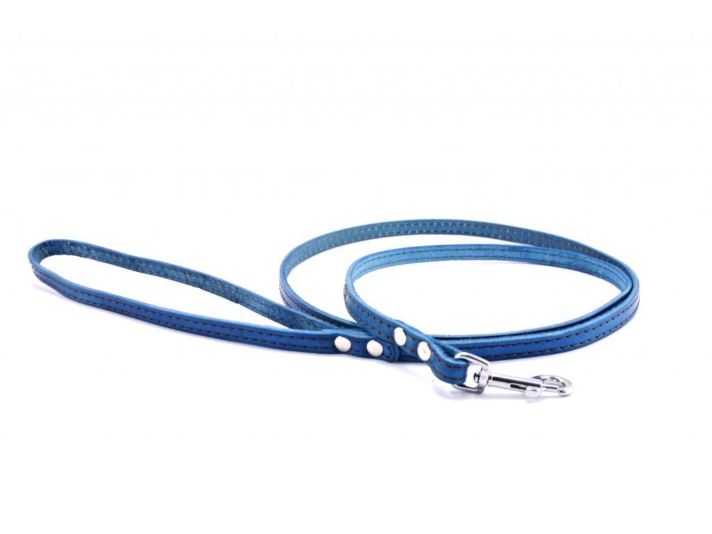 Kožené vodítko STUBBY KLASIK | modré